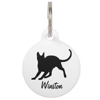 Black Short Hair Cat Pet Nametag
