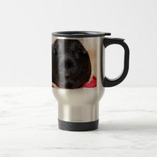 Black Short Haired Romance Guinea Pig Travel Mug