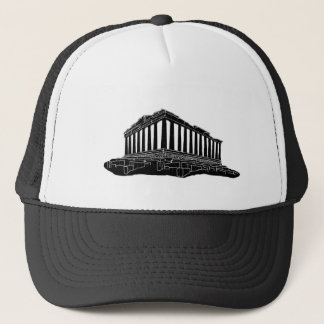 Black silhouette of Parthenon Trucker Hat