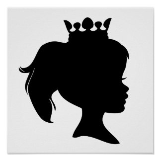 Black Silhouette Princess T-shirts and Gifts Poster