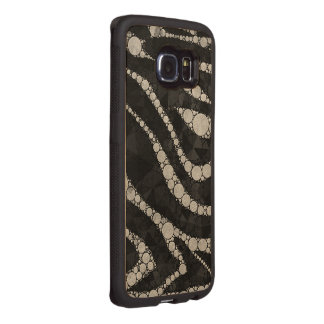 Black Silver Zebra Abstract Texture Wood Phone Case