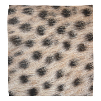 black spotted Cheetah fur or Skin Texture Template Bandanna