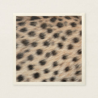 black spotted Cheetah fur or Skin Texture Template Disposable Napkins