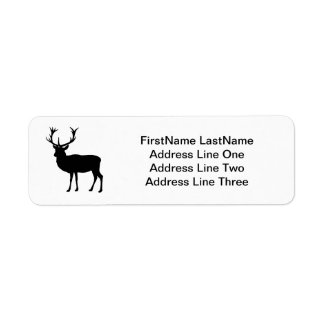 Black Stag - Bachelor or Stag Party Return Address Label