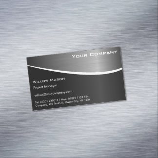 Black Stainless Steel Magnetic Business Card Magnetic Business Cards