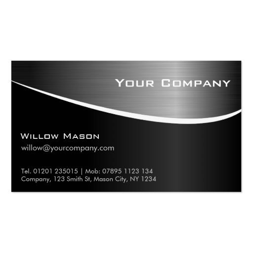 Black Stainless Steel Professional Business Card Business Cards
