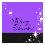 Black Stars Quinceañera Many Thanks Note Card Invitation