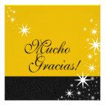 Black Stars Quinceañera Mucho Gracias Note Card Personalised Invite
