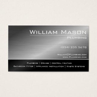 Black & Steel Skilled Tradesman Business Card