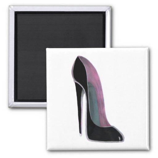 Black Stiletto Shoe Refrigerator Magnet