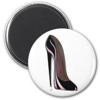 Black Stiletto Shoe Refrigerator Magnets