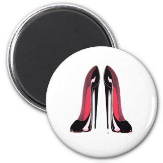 Black Stiletto Shoes Magnets