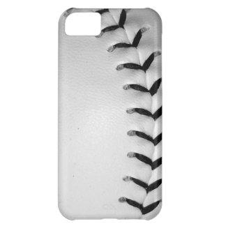Black Stitches Baseball/Softball iPhone 5C Cases