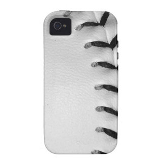 Black Stitches Baseball Softball Case For The iPhone 4