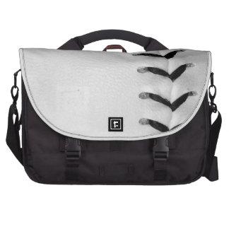 Black Stitches Baseball Softball Laptop Messenger Bag