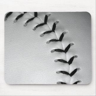 Black Stitches Baseball/Softball Mouse Pad