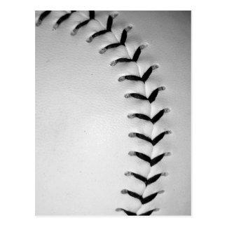 Black Stitches Baseball Softball Postcard