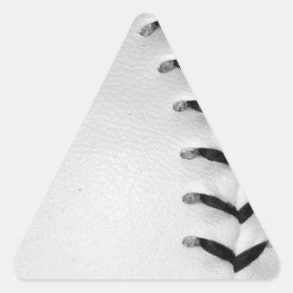 Black Stitches Baseball/Softball Triangle Sticker
