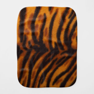 Black Striped Tiger fur or Skin Texture Template Burp Cloth