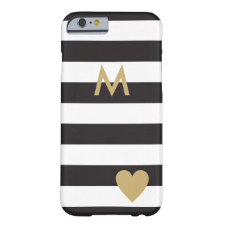 Black Stripes and gold / elegant black stripes Barely There iPhone 6 Case