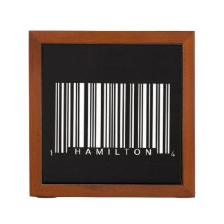 black stripes bar code personalized desk organiser