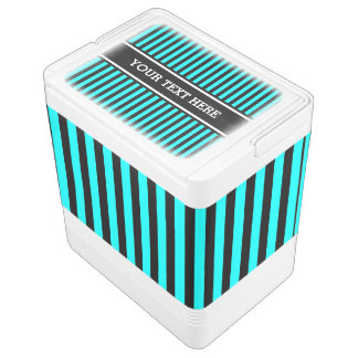 Black Stripes Pattern + your text & background Chilly Bin
