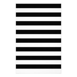 Black Stripes Stationery