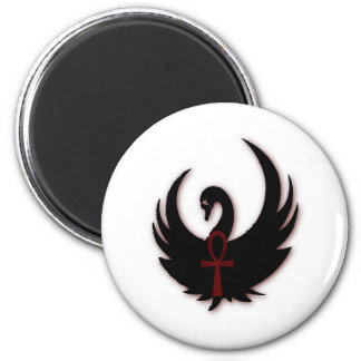 Black Swan with Ankh Magnet