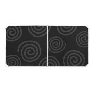 Black Swirls Pattern Design Pong Table