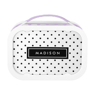 Black Swiss Dots | Personalized Lunch Box