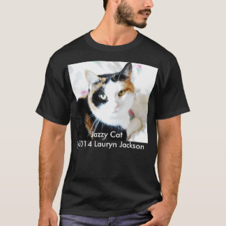 Black T-Shirt short sleeves with a cat