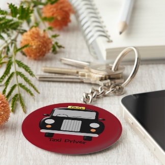Black Taxi Personalised Key Ring