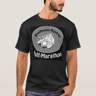 Black tee shirt Quilcene Oyster Half Marathon