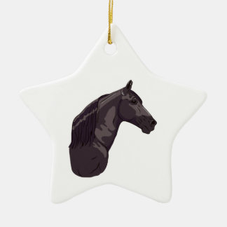 Black Tennessee Walking Horse 2 Christmas Ornaments