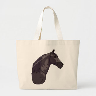Black Tennessee Walking Horse Tote Bags