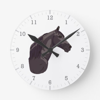 Black Tennessee Walking Horse Clock