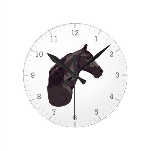 Black Tennessee Walking Horse Clock