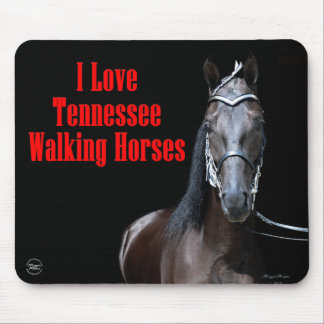 Black Tennessee Walking Horse Mousepads