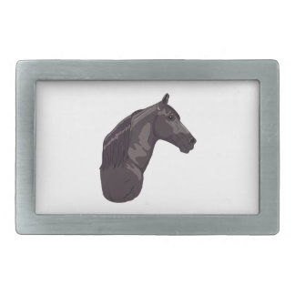 Black Tennessee Walking Horse Rectangular Belt Buckle