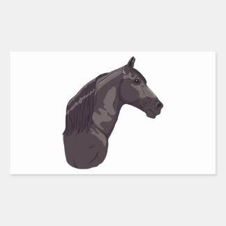 Black Tennessee Walking Horse Rectangular Sticker