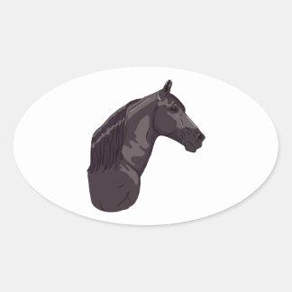Black Tennessee Walking Horse Oval Sticker