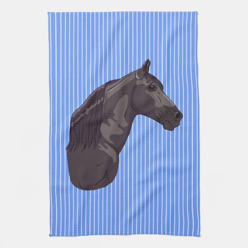 Black Tennessee Walking Horse Hand Towel