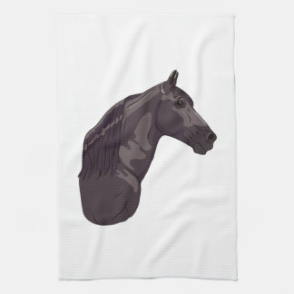 Black Tennessee Walking Horse Kitchen Towels