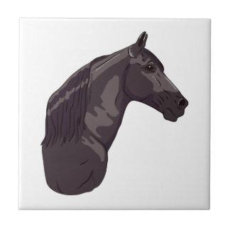 Black Tennessee Walking Horse Ceramic Tile
