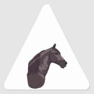 Black Tennessee Walking Horse Triangle Sticker