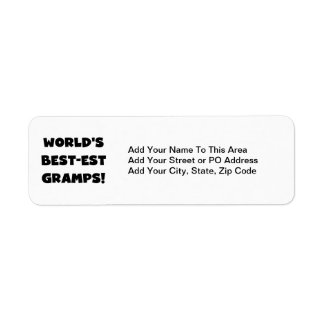 Black Text World's Best-est Gramps Gifts Return Address Label