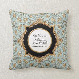 Black Tie Elegance 2, Golden Wedding Anniversary Cushion