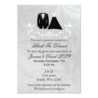 Black Tie Event Corporate party Invitation