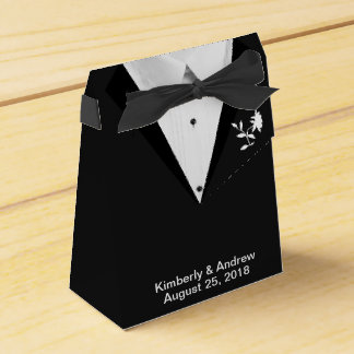Black Tie Groom Wedding Favor Gift Boxes Favour Boxes
