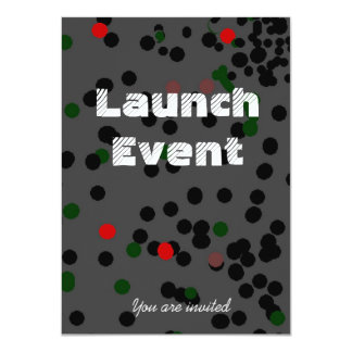 Black Tie Launch event party 11 Cm X 16 Cm Invitation Card